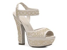 Sergio Rossi Leather Beaded Sandal