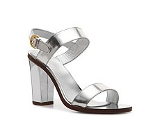 Sergio Rossi Metallic Leather Sandal