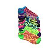 Poppie Jones Neon Animal Print Sock, 6 Pack