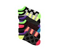 Poppie Jones Bright Stripe and Polka Dot Sock, 6 Pack