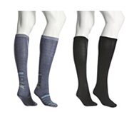 Kelly & Katie Heel Stripe Knee Sock, 2 Pack