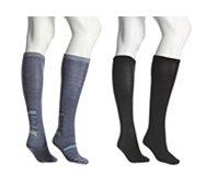 Kelly & Katie Heel Stripe Knee Sock, 2 Pack