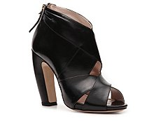 Miu Miu Leather Peep Toe Bootie
