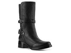 Miu Miu Pebbled Leather Moto Boot