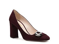 Prada Suede Button Pump