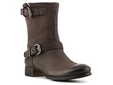 Prada Distressed Leather Buckle Boot