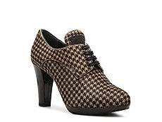 Prada Houndstooth Pony Hair Oxford Bootie