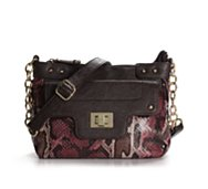 Poppie Jones Colored Snake Mini Cross Body Bag