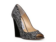 Jimmy Choo Biel Glitter Wedge Pump