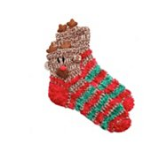 Poppie Jones Reindeer Stripe Slipper Sock