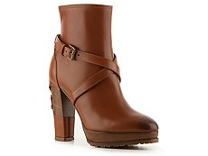 Ralph Lauren Collection Teana Leather Buckle Bootie