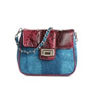 Poppie Jones Snake Flap Mini Cross Body Bag
