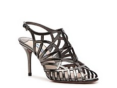 Prada Metallic Leather Cutout Sandal