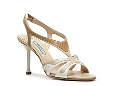 Prada Patent Leather Slingback Sandal