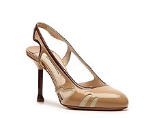 Prada Patent Leather Slingback Pump