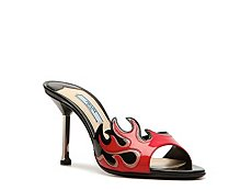 Prada Patent Leather Flame Sandal