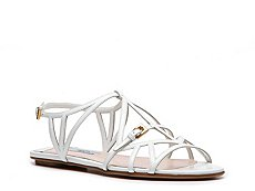 Prada Patent Leather Cutout Flat Sandal