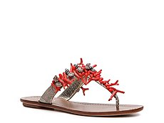 Prada Leather Beaded Flip Flop