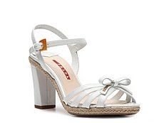 Prada Patent Leather Bow Sandal