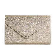 Lulu Townsend Baby Glitter Envelope Clutch