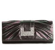 Lulu Townsend Metallic Pleat Clutch