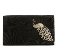 Lulu Townsend Peacock Flap Clutch