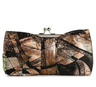 Lulu Townsend Multicolor Sequin Bow Frame Clutch