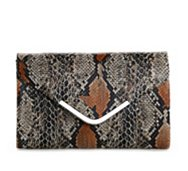Poppie Jones Snake Envelope Clutch