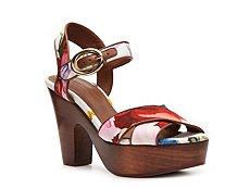 Dolce & Gabbana Floral Canvas Platform Sandal