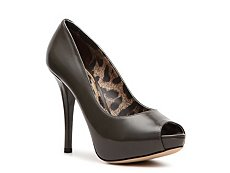 Dolce & Gabbana Patent Leather Peep Toe Pump
