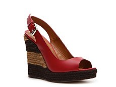 Fendi Leather Wedge Sandal