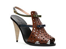 Fendi Leather Bow Sandal