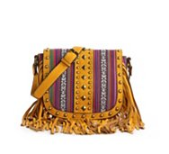Melie Bianco June Studded Fringe Crossbody Bag