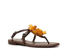 Bottega Veneta Leather Rose Flat Sandal