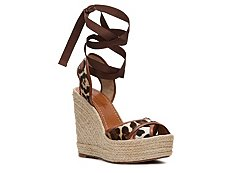 Dolce & Gabbana Pony Hair Wedge Sandal