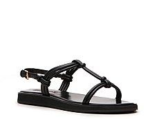 Prada Leather Rope Flat Sandal