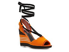 Prada Canvas Wedge Sandal