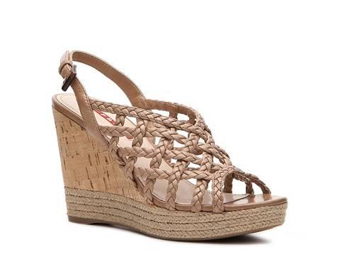 prada vernice promenade - Prada Woven Leather Wedge Sandal | DSW
