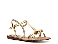 Stella McCartney Rego Faux Metallic Leather Sandal