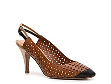 Giuseppe Zanotti for Vionnet Maine Leather Slingback Pump