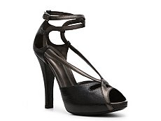 Bottega Veneta Reptile Leather Platform Sandal
