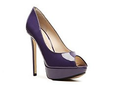 Emilio Pucci Patent Leather Peep Toe Pump
