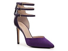 Emilio Pucci Patent Leather & Suede Ankle Strap Pump