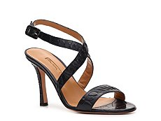 Santoni Crocodile Leather Ankle Strap Sandal