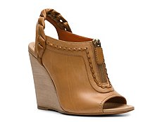 Santoni Leather Wedge Sandal