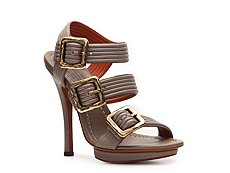 Santoni Leather Buckle Sandal