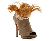 Santoni Suede Feather Bootie