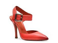 Santoni Leather Buckle Pump