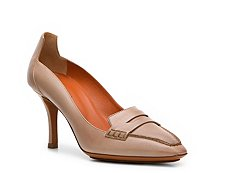 Santoni Leather Penny Keeper Pump