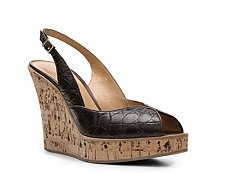 Santoni Crocodile Leather Slingback Sandal